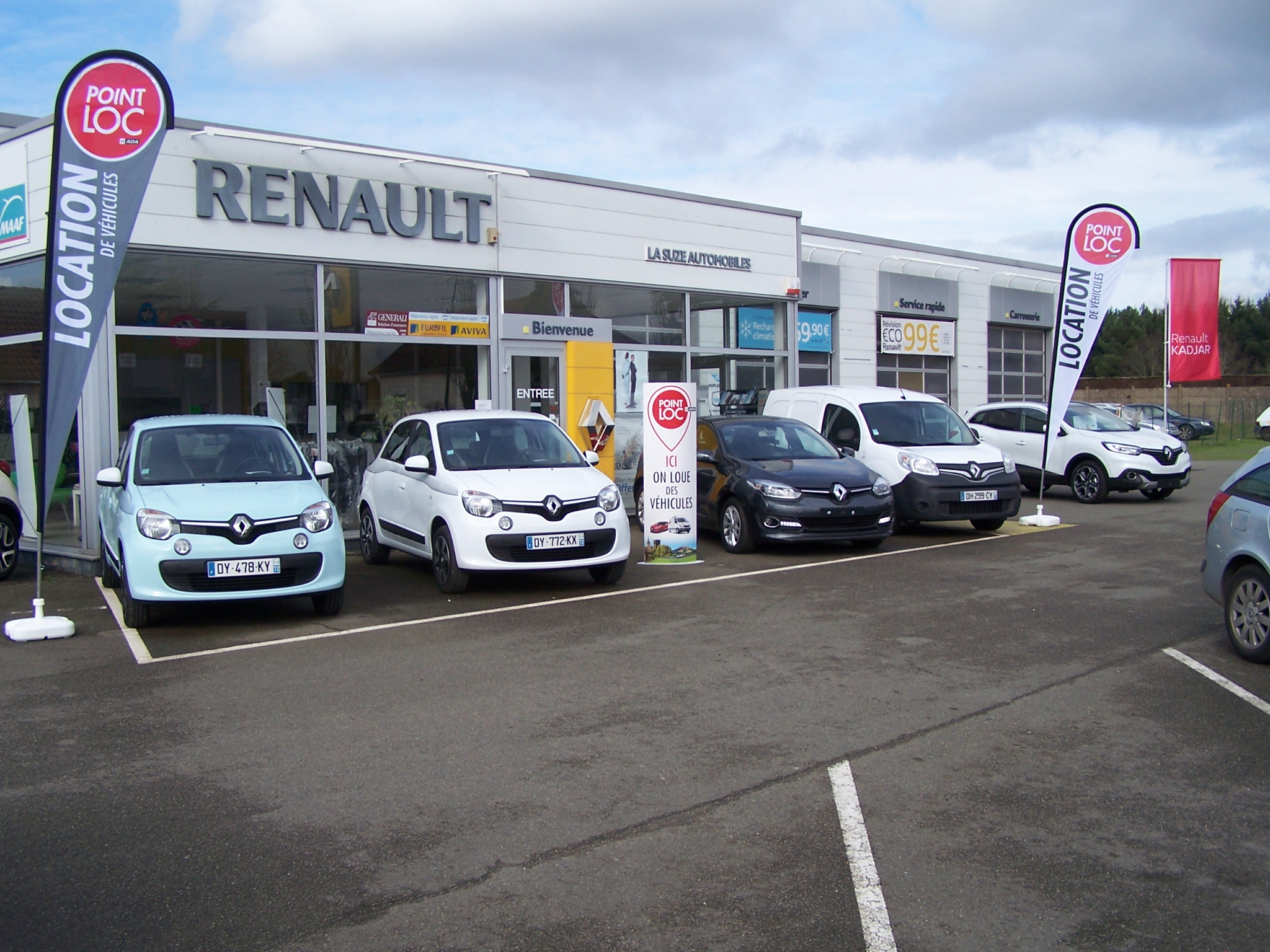 La suze automobiles r paration vente de voiture la suze for Garage renault revision